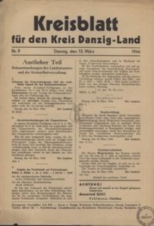 Kreisblatt fur den Kreis Danzig-Land nr.9