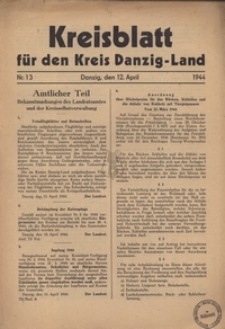 Kreisblatt fur den Kreis Danzig-Land nr.13