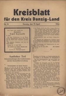 Kreisblatt fur den Kreis Danzig-Land nr.14