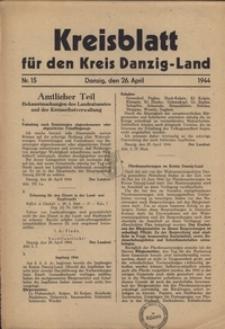Kreisblatt fur den Kreis Danzig-Land nr.15