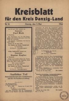 Kreisblatt fur den Kreis Danzig-Land nr.16