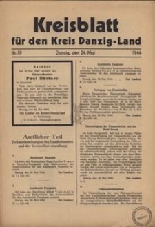 Kreisblatt fur den Kreis Danzig-Land nr.19