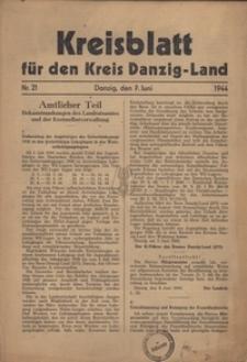Kreisblatt fur den Kreis Danzig-Land nr.21