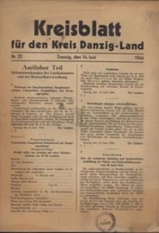 Kreisblatt fur den Kreis Danzig-Land nr.22