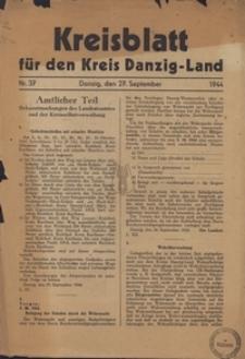 Kreisblatt fur den Kreis Danzig-Land nr.37