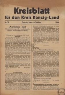 Kreisblatt fur den Kreis Danzig-Land nr.38