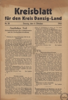 Kreisblatt fur den Kreis Danzig-Land nr.39
