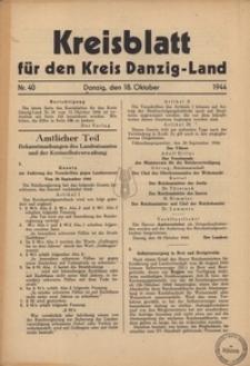 Kreisblatt fur den Kreis Danzig-Land nr.40