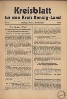 Kreisblatt fur den Kreis Danzig-Land nr.45