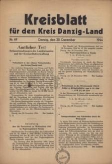 Kreisblatt fur den Kreis Danzig-Land nr.49