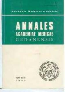 Annales Academiae Medicae Gedanensis, 1993, t. 23