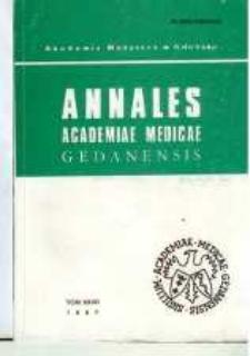Annales Academiae Medicae Gedanensis, 1997, t. 27