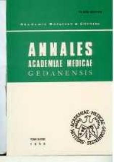 Annales Academiae Medicae Gedanensis, 1998, t. 28
