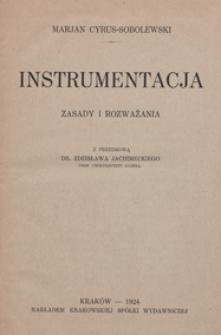 Instrumentacja : zasady i rozważania