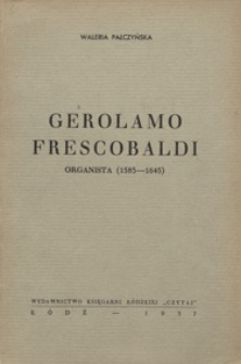 Girolamo Frescobaldi, organista /1583-1643/
