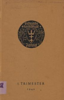 Vorlesungs-Verzeichnis : für das 1 Trimester 1940