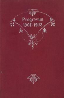 Programm : für das Studienjahr 1907-1908