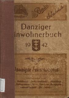 Danziger Einwohnerbuch : mit allen eingemeindeten Vororten und Zoppot 1942