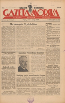 Gazeta Gdańska, Gazeta Morska, 1929.11.09 nr 233
