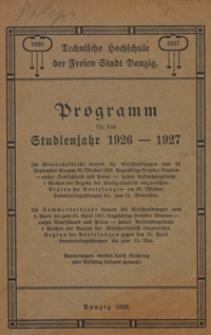 Programm : für das Studienjahr 1926-1927