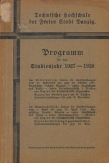 Programm : für das Studienjahr 1927-1928
