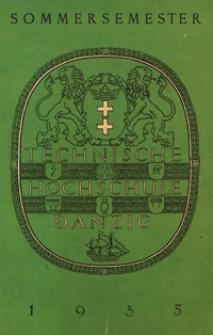 Vorlesungs-Verzeichnis : für das Sommersemester 1935
