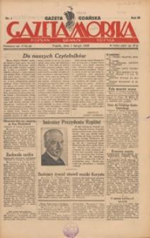 Gazeta Gdańska, Gazeta Morska, 1930.01.01 nr 1