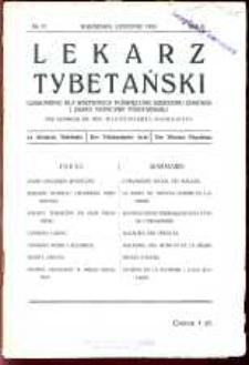Lekarz Tybetański : miesięcznik poświęcony szerzeniu zdrowia i zasad medycyny tybetańskiej, 1933, R.2, nr 17