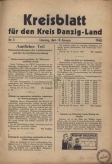 Kreisblatt fur den Kreis Danzig-Land nr.3