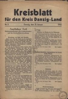 Kreisblatt fur den Kreis Danzig-Land nr.5