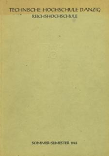 Vorlesungs-Verzeichnis : für das Sommersemester 1943