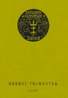 Vorlesungs-Verzeichnis : für das Herbst-Trimester 1939