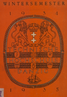 Vorlesungs-Verzeichnis : für das Wintersemester 1934/35