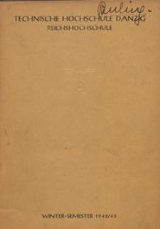 Vorlesungs-Verzeichnis : für das Wintersemester 1942/43
