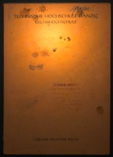 Vorlesungs-Verzeichnis : für das Wintersemester 1943/44
