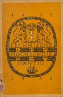 Vorlesungs-Verzeichnis : für das Studienjahr 1933/1934