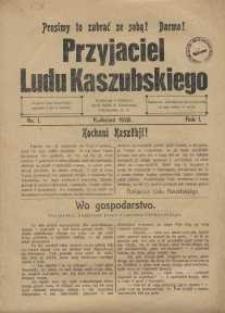 Przyjaciel Ludu Kaszubskiego, 1928, nr1