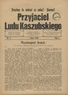 Przyjaciel Ludu Kaszubskiego, 1928, nr7