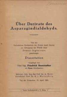 Über Derivate des Asparagindialdehyds