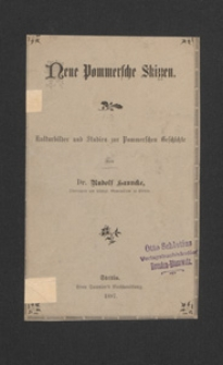 Neue Pommersche Skizzen