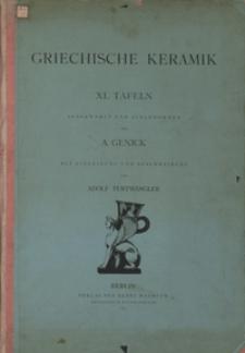 Griechische Keramik : XL Tafeln