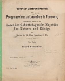 Jahresbericht des Progymnasiums zu Lauenburg in Pommern : für das Schuljahr 1880