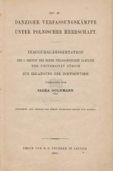 Danziger Verfassungskämpfe unter polnischer Herrschaft