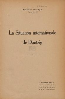 La Situation internationale de Dantzig