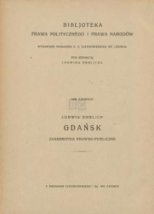 Gdańsk : zagadnienia prawno-publiczne