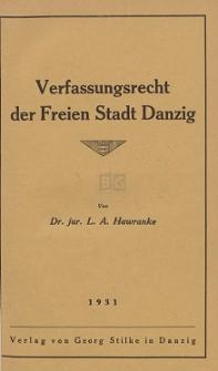 Verfassungsrecht der Freien Stadt Danzig