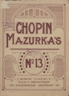 Mazurka F-dur : op.68, No 3 : [fur Pianoforte]
