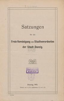 Satzungen für die Freie Vereinigung von Stadtverordneten der Stadt Danzig