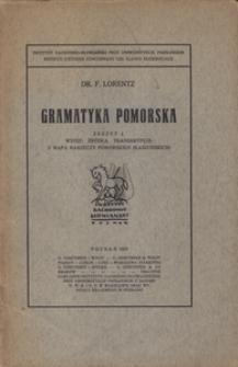 Gramatyka Pomorska, z. 1