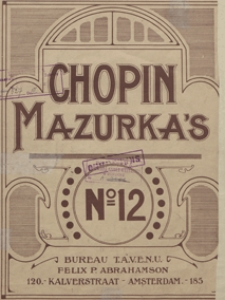Mazurka a-moll : op.68, No 2 : [fur Pianoforte]